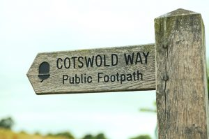 The Cotswold Way signpost